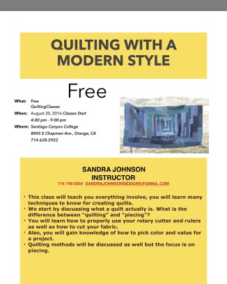 Quilting with a Modern Style
